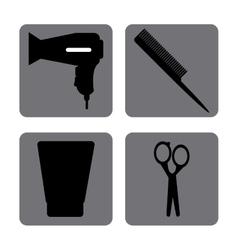 Hairdresser icons design vector image