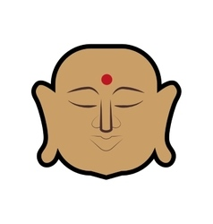 Buddha icon indian culture design graphic vector