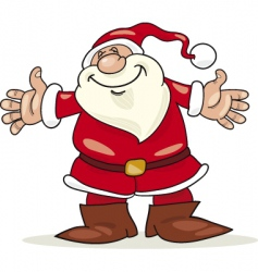Santa claus with open arms vector