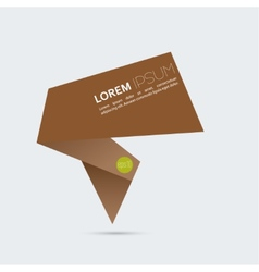 Abstract background with origami brown speech vector