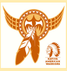American indian logos vector