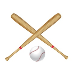 Baseball bat and ball2 vector