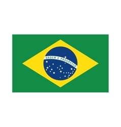 Brazilian flag drawing design vector