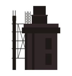 building under construction icon vector image