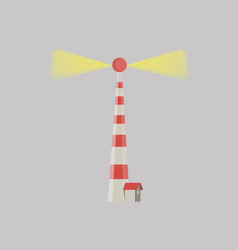 cartoon flat lighthouses searchlight tower for vector image vector image