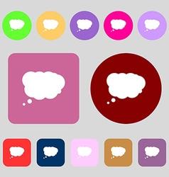 Cloud sign icon data storage symbol 12 colored vector