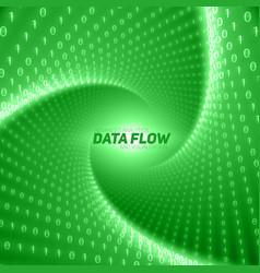 data flow visualization green flow vector image vector image
