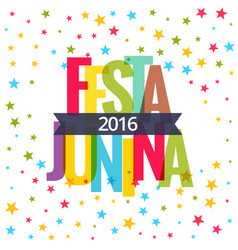 Festa junina 2016 celebration background vector