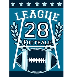 Football league banner with football embroidery vector