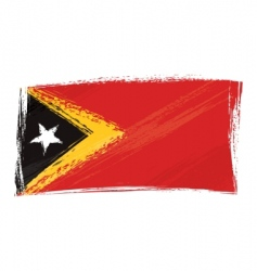 grunge East Timor flag vector image vector image