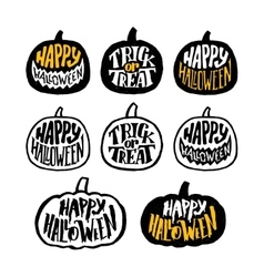 Happy Halloween badges or labels design vector image vector image