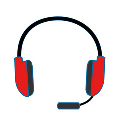 headset icon imag vector image