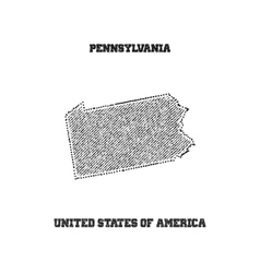 Label with map of pennsylvania vector