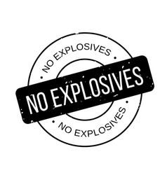 No explosives rubber stamp vector