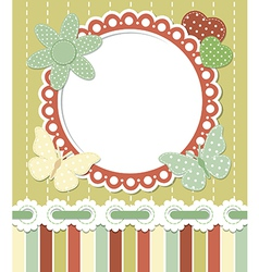 Romantic vintage frame vector image vector image