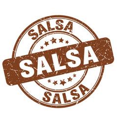Salsa brown grunge round vintage rubber stamp vector