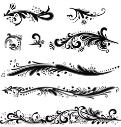 Set of patterns horizontal vector image vector image