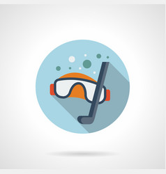 Snorkeling blue round icon vector