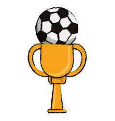 Soccer award cup sport win vector