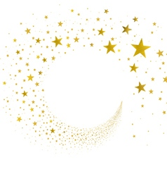 Stream Gold Stars vector image