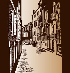 venice lane is an ancient city vector image vector image