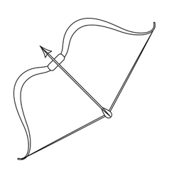 Viking bow icon in outline style isolated on white vector