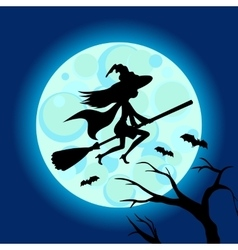 Halloween of mysterious night sky vector image
