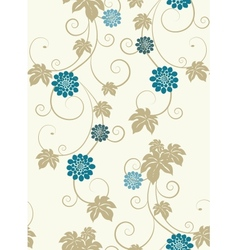 Pastel colors floral seamless background vector image