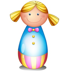 A colorful doll vector image