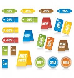 shopping marks vector image