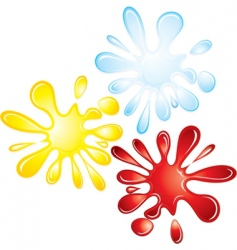 Splash collection vector