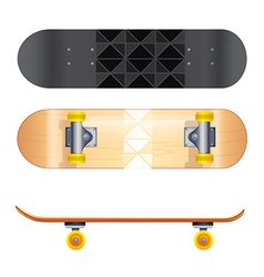Skateboard templates vector