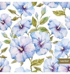 Blue flowers pattern vector