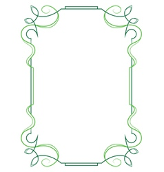 Elegant vertical frame on a white background vector