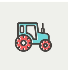 Offroad car thin line icon vector image