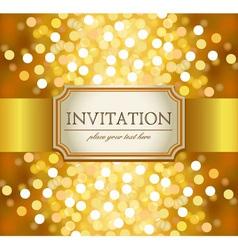 golden invitation vector image