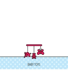 Baby toys icon butterfly elephant and bear vector