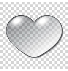 Water heart drop vector