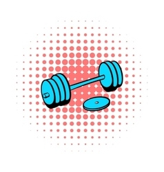 Barbell icon comics style vector
