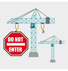 Construction design crane icon repair concept vector