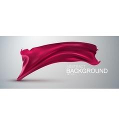 Pink silk fabric vector
