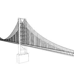 Golden gate bridge - san francisco vector