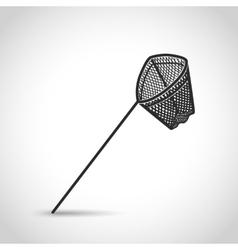 Landing net icon vector
