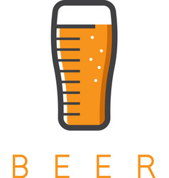 Abstract icon design template of beer glass vector