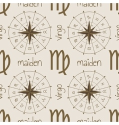 Astrology sign maiden seamless pattern vector