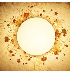 Autumn Round Grunge Frame vector image vector image