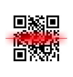 Bar qr code scanning digital code scan vector