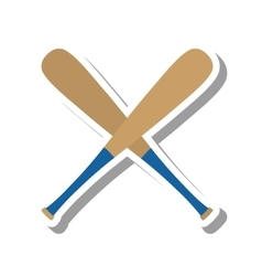 Baseball bat equipment icon vector