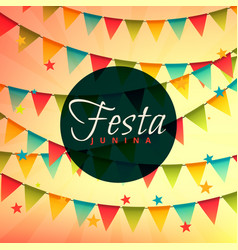 Beautiful festa junina backgorund vector