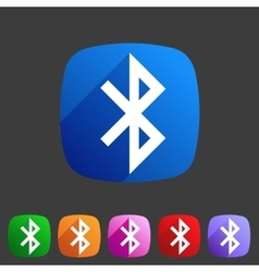 Bluetooth connection icon flat web sign symbol vector image vector image